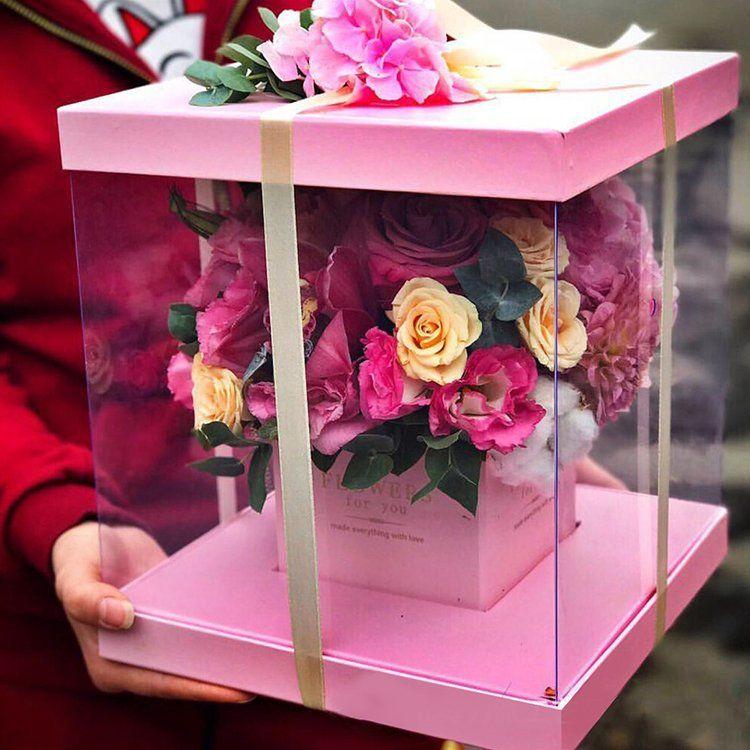 Square PVC Body Flower Box