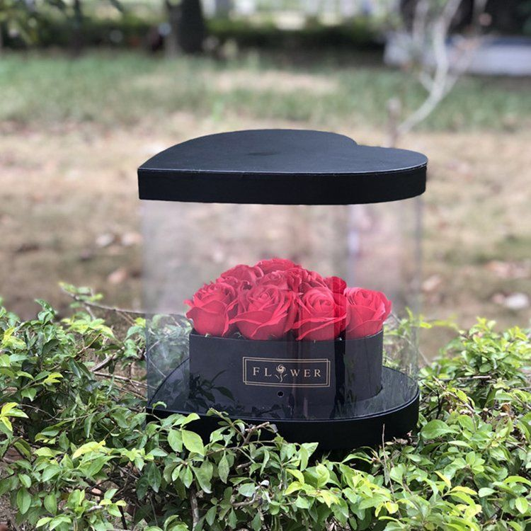 PVC Heart Rose Boxes