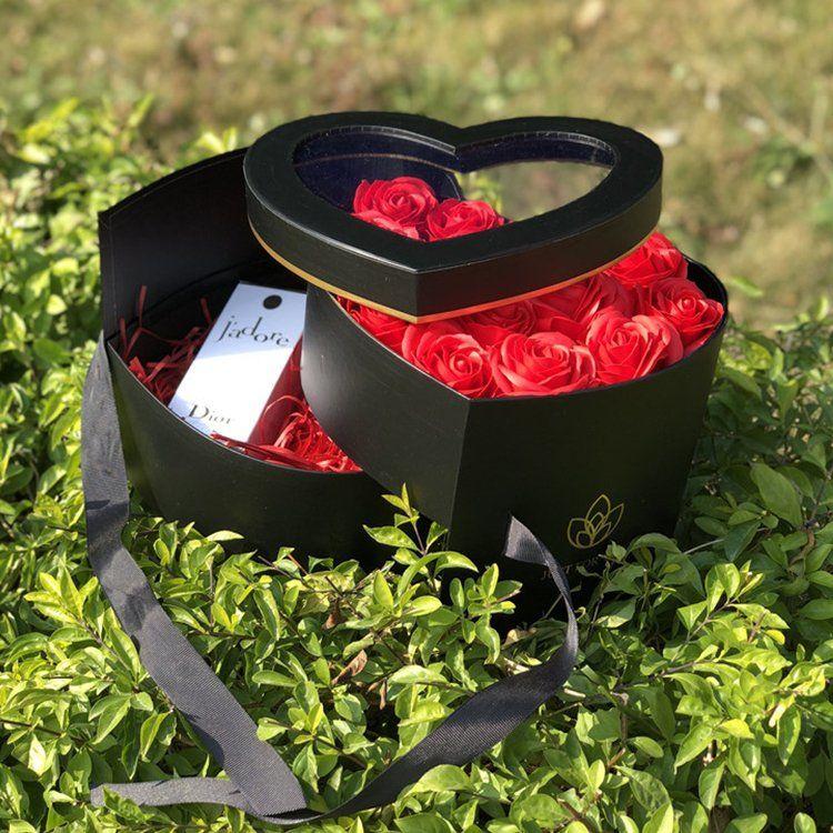 Rotatable PVC heart boxes